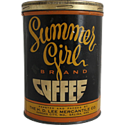 Vintage Summer Girl Coffee Tin