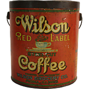 Wilson Red Label Coffee Pail