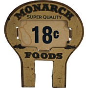 Monarch's Food Pricing Tin