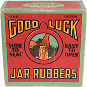 Vintage Box of Good Luck Jar Rubbers
