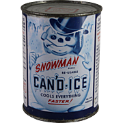 Vintage Can of Snowman CAN'D-ICE Coolant