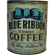 Blue Ribbon Brand Coffee Tin