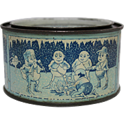 Rare Small 4 oz Snowdrop Marshmallow Tin