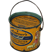 SOLD Armour's Veribest Peanut Butter tin Pail