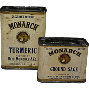 Turmeric & Ground Sage Monarch Spice Containers