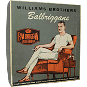 "Vintage ""Balbriggans"" Men's Underwear Box and Partial Contents"