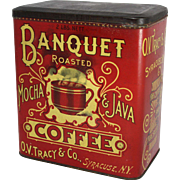 Banquet Roasted Mocha & Java Coffee Tin