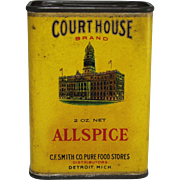 """Vintage """"Court House"""" Allspice Container"""