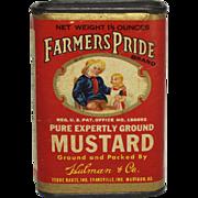 Vintage Farmer's Pride Mustard Spice Container