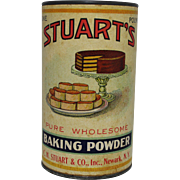 Vintage Stuart's Baking Powder Container