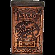 """Vintage """"Gamin Cacao""""  Dutch Cocoa Tin"""