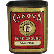 """Vintage Canova Extra Quality """"Allspice"""" Spice Container"""