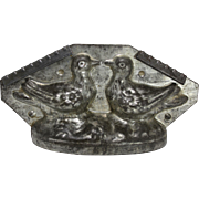 "Vintage ""Two Doves, Love Birds"" Chocolate Mold"