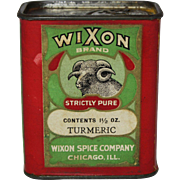 """Vintage """"Wixon"""" Turmeric Spice Container"""