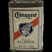 "Vintage ""Conquest"" Allspice Spice Container"