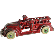 "Small ""Arcade"" Cast Iron Fire Ladder Truck"