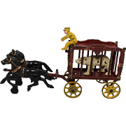 "Hubley Horse Drawn ""Royal Circus"" Wagon"