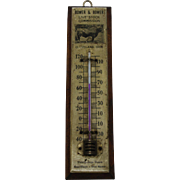 "Vintage ""Bower & Bower"" Livestock Commission Thermometer"