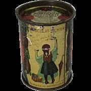 "Rare Vintage Menier's ""Chocolat-Menier Powdered Chocolate"" Tin"