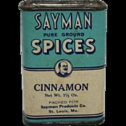 """Vintage """"Sayman"""" Cinnamon Spice Container"""