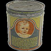 """Vintage """"S.M.A."""" Baby's Diet Compound Tin"""