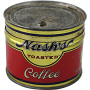 Vintage Trial Size Nash's Toasted Coffee Tin