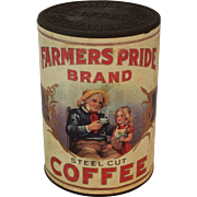 "Vintage ""Farmers Pride Brand"" Unopened Coffee Tin"