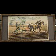 "Vintage ""Little Yankee"" Plow, Framed Paper Advertisement"