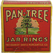 "Vintage Box of ""Pan-Tree Brand"" Jar Rings"