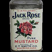 "Vintage ""Jack Rose"" Mustard Spice Tin"