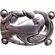 Huge Sterling Craft by Coro Dove Brooch! Solid Silver!