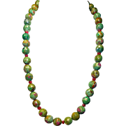 Blush of Beauty By Estrella: Ruby Zoisite and Ruby Necklace
