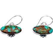 Navajo Turquoise and Sterling Earrings