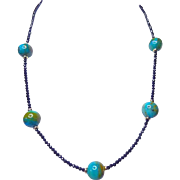 Peruvian Opal, Spinel and Gold Necklace by Estrella