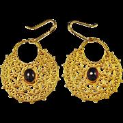 Byzantine Earrings 22K Gold Byzantine Jewelry 6th Century Pre Georgian Earrings Antique Gold .