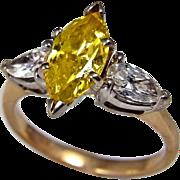 Canary Diamond Engagement Ring Canary Diamond Ring Yellow Diamond Ring Yellow Diamond ...
