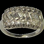 Art Deco Diamond Ring Wedding Ring Wedding Band Platinum VS F Eternity Engagement Ring 1920s .