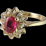 Padparadscha Sapphire Ring Sapphire Engagement Ring Ruby Engagement Ring Pendant Ring 1950s ..