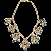 Georgian Diamond Necklace Reversible 18th century Mogul Mughal Necklace Diamond Rock Crystal .