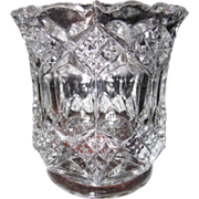 SOLD EAPG 1880 Imperial Glass Co Three in one Fancy diamonds toothpick holder