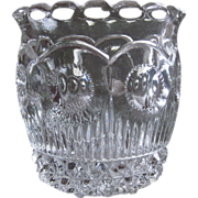 "SOLD EAPG U.S. Glass Co. 1902  ""Manhattan"" NY State Toothpick Holder"