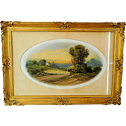 SALE Pastel Drawing by Charles Ward (1850 - 1937) Listed Artist Landscape Pasture Highly ...
