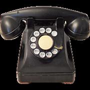 Bakelite Rotary Phone, Western Electric, 1940s Era, Black