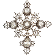 Perfection in a French Silver and Paste Pendant c.1800