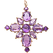 Star Crossed Georgian Amethyst Pendant,