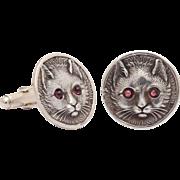 Spirited Feline Cuff Links