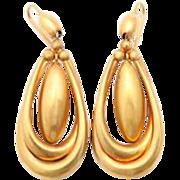 Hoops of Gold On Victorian Chandelier Earrings