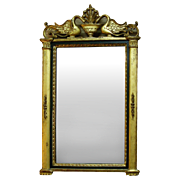 Antique French Gold Leaf Wall Mirror