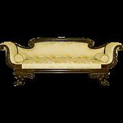 Antique American Empire Mahogany Sofa