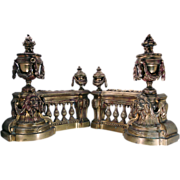 19th C. Suites OF Bronze Chenets